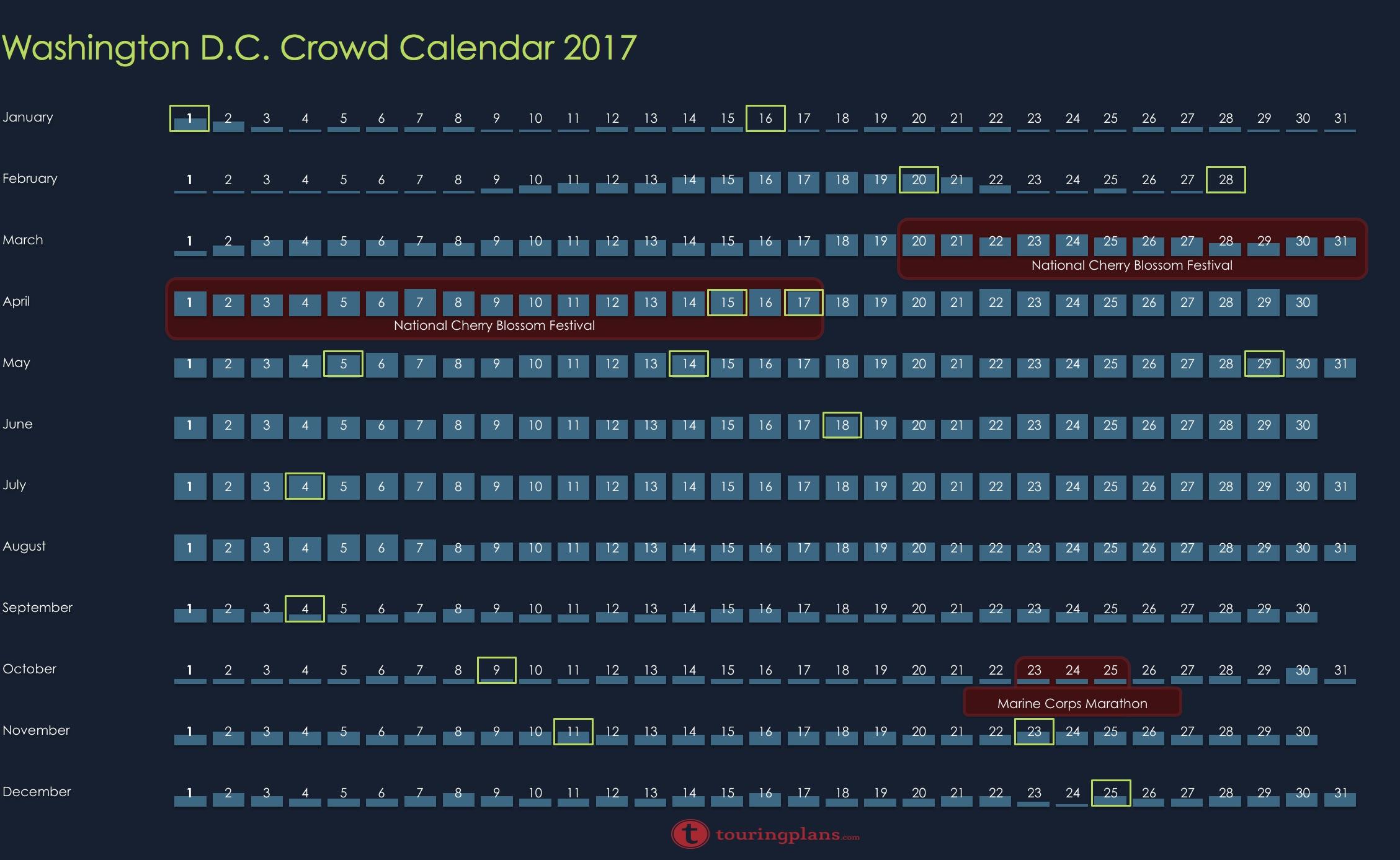 Dc crowd calendar 2017