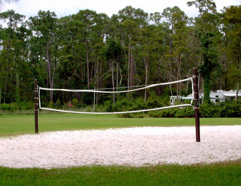 Volleyball court at meadow recreation area