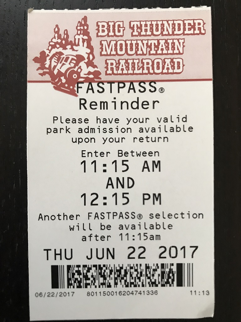 Big Thunder FASTPASS
